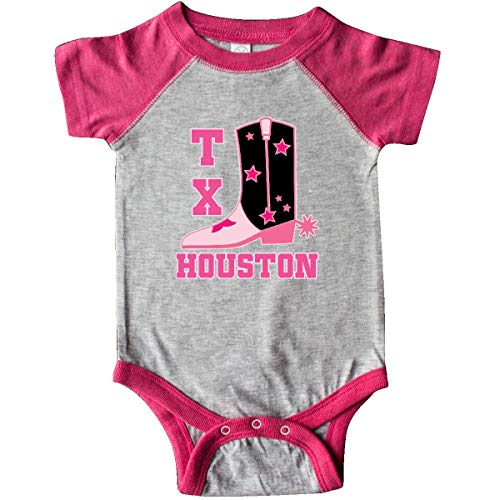 inktastic - Houston Texas Infant Creeper Newborn Heather and Hot Pink 22256 ()