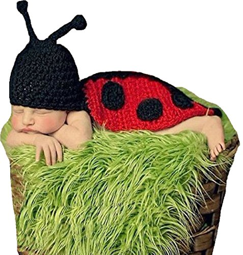 [Joy Baby Infant Costume Photo Photography Prop (Newborn-6 Months) - LadyBug] (Flower Zombie Costumes For Girls)