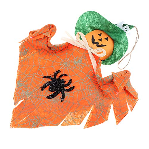 SM SunniMix Halloween Hanging Witch Party Decorations Indoor Outdoor Party Decoration - Orange -