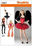 Simplicity Sewing Pattern 2067: Misses' Costumes, Hh (6-8-10-12)