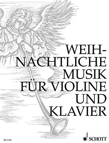 Weihnachtliche Musik: Violine und Klavier.