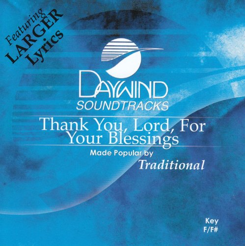 Thank You Lord For Your Blessings On Me [Accompaniment/Performance Track]