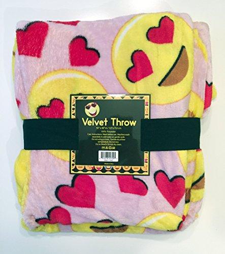 Jasmine 3 Light Bath (Velvet Fleece Emoji Throw Blanket (Light)
