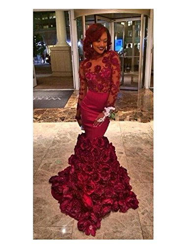 Evening with Prom Dresses Sleeves Appliques Women's Mermaid Long Black Gowns Fanciest 1wPcZRqWw