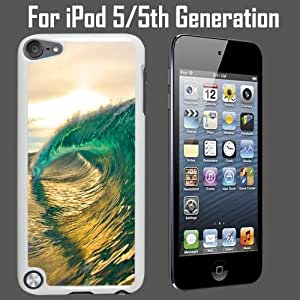 Perfect Rip Wave Surf Custom Case/ Cover/Skin *NEW* Case for Apple iPod 5/5G/5th Generation - White - Plastic Case (Ships from CA) Custom Protective Case , Design Case-ATT Verizon T-mobile Sprint ,Friendly Packaging - Slim Case
