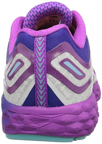 New Balance Womens W980V2 Fresh Foam Boracay Running Shoe White with Voltage Violet