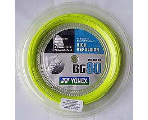 Yonex BG80 Badminton String - 200m Reel, Color- Yellow (200 Reel)