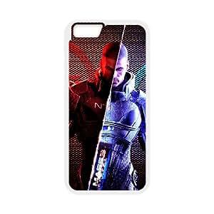 Mass Effect 001 funda iPhone 6 Plus 5.5 Inch Cubierta blanca del teléfono celular de la cubierta del caso funda EOKXLKNBC28849