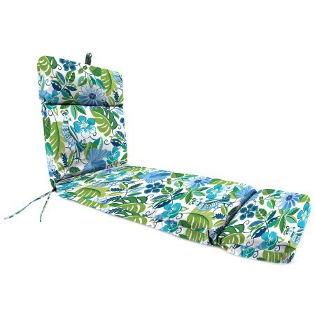 Jordan Manufacturing Outdoor Patio Chaise Cushion, Lensing Lagoon