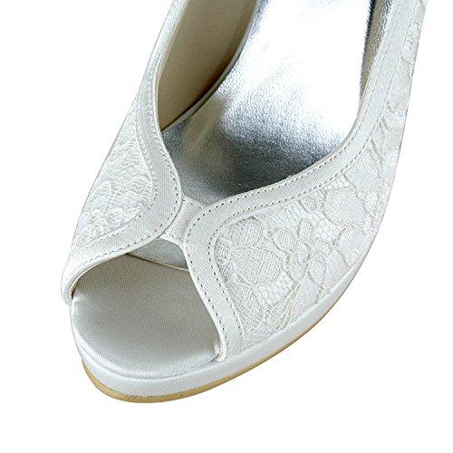 Kevin Fashion , Chaussure de mariée fashion femme - Blanc Cassé - Blanco - blanco, 43 EU EU