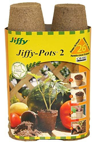 Jiffy 100055665 033349412142 Ferry Morse 5214 26-Count 2-1/4-Inch Pots