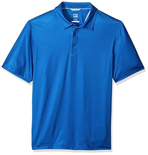 Cutter & Buck Men's Moisture Wicking Drytec UPF 50+ Print Jersey Polo Shirt, Harbor Print Bolt, X Large -