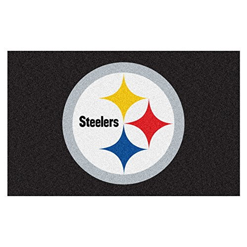 (FANMATS NFL Pittsburgh Steelers Nylon Face Ultimat Rug)