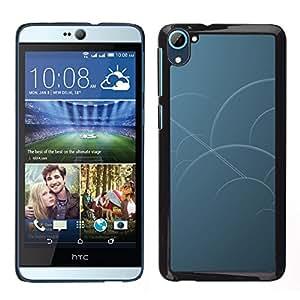Caucho caso de Shell duro de la cubierta de accesorios de protección BY RAYDREAMMM - HTC Desire D826 - Círculos azules