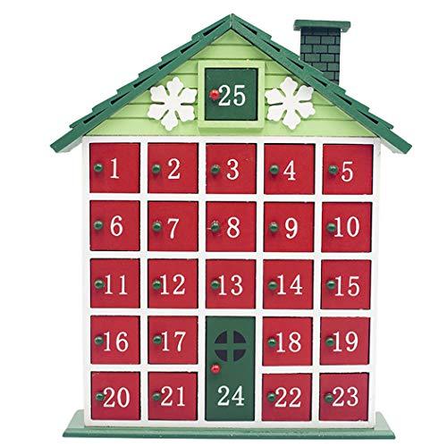 [해외]Christmas Advent Calendar House Shape Countdown Calendar Christmas Storage Box / Christmas Advent Calendar House Shape Countdown Calendar Christmas Storage Box