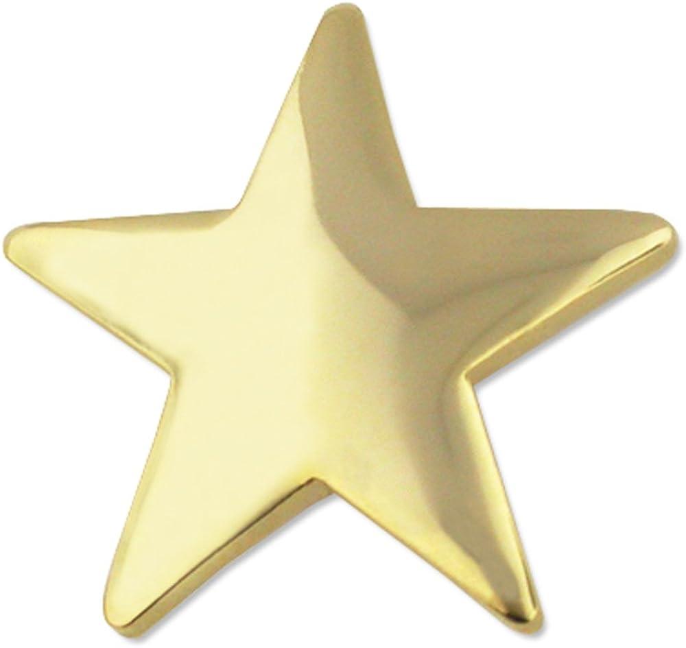Pinmart 'sクラシックShinyゴールドスターラペルピン