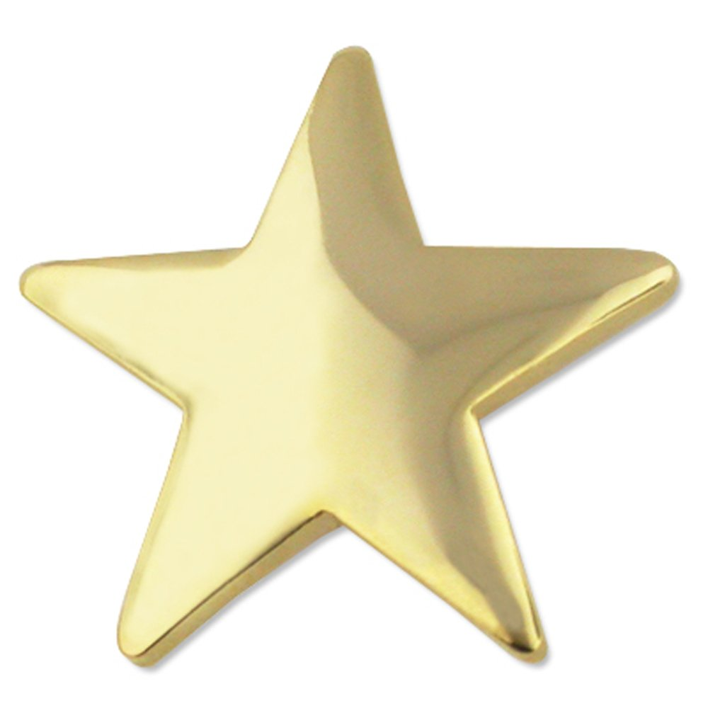 PinMart's Classic Shiny Gold Star Lapel Pin