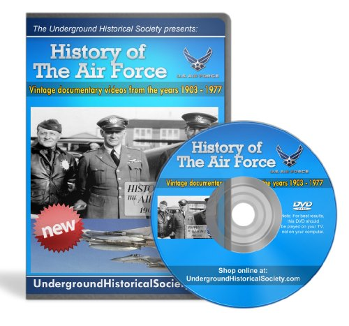 "1 Day Special Sale! Air Force History - ORIGINAL USAF Historical Footage Just Released! 100% Satisfaction Guaranteed! Official Archived Footage Now ""De-Classifed"" & Finally Made Available to Civilians - Includes In-Depth Video Covering ALL Periods of the United States Air Force History Including Aviation Service, Flying Force, & Flying Corp - Perfect Gift for Your Favorite Veteran, Pilot, Military Enthusiast, Academy Graduate, Enlisted Man & Woman, Airman, Sergeant, Private, Specialist, or Flyboy! Shop with Confidence! Ships Today!"