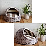 1 Pcs Grandiose Popular Pet Half Covered Bed Size S Portable Couch Dog Furniture Soft Fabric Color Type Gray