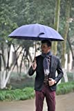 Lilac Large Golf Umbrella for Men, Masterpiece of Craftsman, Unbreakable Stick Umbrellas, Windproof Waterproof UV Protection, 24 Ribs Durable and Strong Enough, Carrying Bag Included Blue
