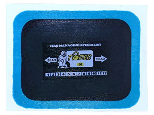 "TAITEC TNRE-10, Self Vulcanizing Tire Repair Patch (3.14"" x 2.36"", 10pc) for Tubeless Tires, Cars, Trucks, SUVs, Off-road Vehicles"