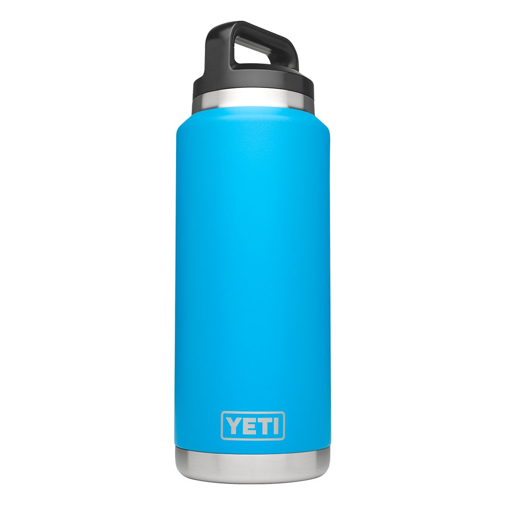 YETI Rambler 36oz Vacuum Insulated Stainless Steel Bottle with Cap (Stainless Steel) (Tahoe Blue) by YETI