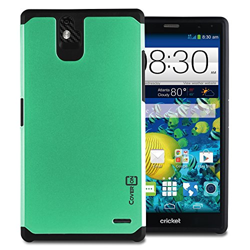 ZTE Grand X Max+ Case, CoverON Hybrid Case [Slim Guard Series] Heavy Duty Rugged Impact Armor Phone Cover for ZTE Grand X Max Plus Phone case - (Teal) (Phone Zte Cases Grand Cricket)
