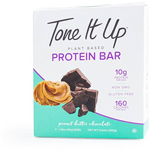 Tone it Up Protein Bars Peanut Butter Chocolate Protein Bar 1.76 Ounce – 4 Count Bars (Total 7.04 Ounce)