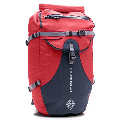 Aqua-Quest 'The Stylin' Waterproof Backpack Dry Bag - 30 L / 1800 cu. in. Red Model by Aqua Quest