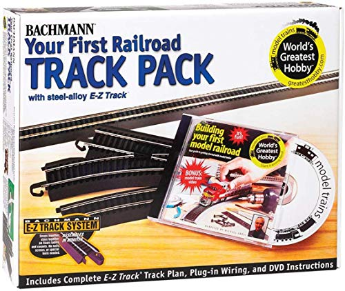 Bachmann Trains Snap-Fit E-Z TRACK WORLD'S GREATEST HOBBY TRACK PACK - Steel Alloy Rail With Black Roadbed - HO Scale from Bachmann Trains