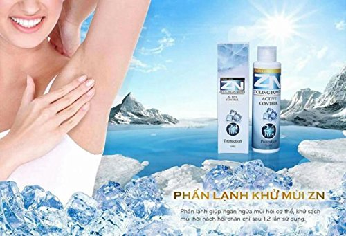 04 bottles100gram - PHẤN LẠNH ZN (Khử Mùi Hôi Cơ Thể) - ZN COLD (Deodorant) - Made from 100% from herbs, roots, fruit shells by ZN