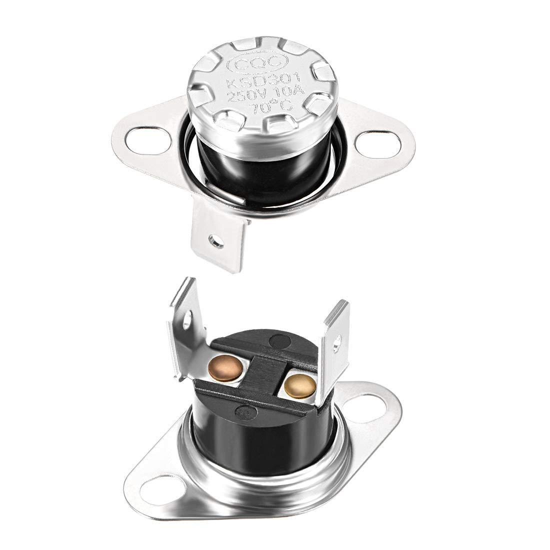 uxcell KSD301 Thermostat Adjust Snap Disc Limit Control Switch Microwave Thermostat Thermal Switch 60/°C 10A Normally Open N.O 2pcs