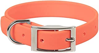 product image for Mendota Pet Durasoft Imitation Leather Collar - Standard Collar - Made in The USA - Waterproof, Odor Resistant - Orange, 3/4 in x 14 in (Narrow)