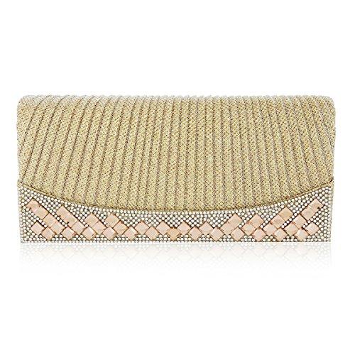 Womens Pillow Gold Bag Shape Damara Evening Magnet Glittering Flap dwxEB