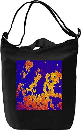 Colorful Wall Print Borsa Giornaliera Canvas Canvas Day Bag| 100% Premium Cotton Canvas| DTG Printing|