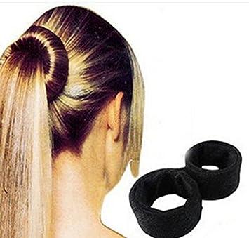 Amazoncom Pc Black Classic Spiral European Bun Updo Fold Wrap - Diy ponytail wrap