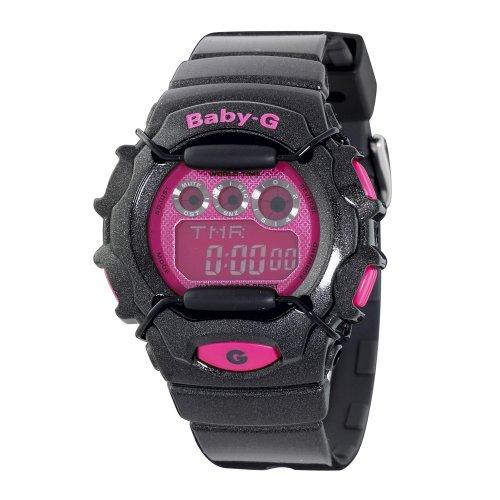 Casio Women's BG1006SA-1CR Baby-G Black and Pink Digital Sport Watch ()