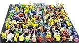 Pokemon Monopoly Board Game Best Deals - Oliasports Pokemon Action Figures, 144-Piece, 2-3 cm