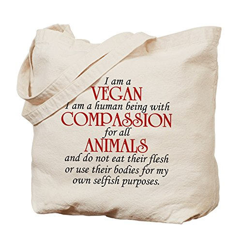 CafePress Vegan Natural Canvas Shopping