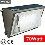 WYZM 70Watt LED Wall Pack Light,250-300W HPS MH Bulb Replacement,Outdoor LED Lighting Fixture for Building Home Security and Walkways (70Watt)