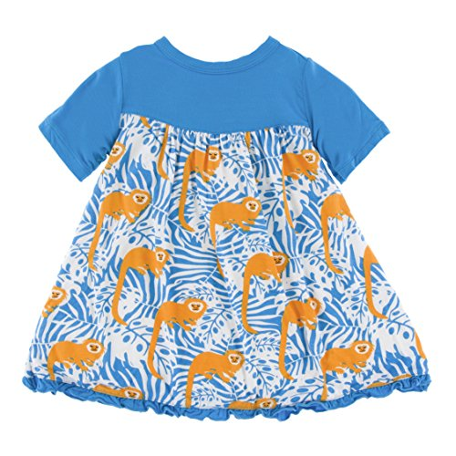 Kickee Pants Bamboo Swing Dress (18-24 Months, Tamarin Monkey)