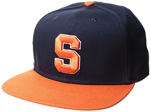 NCAA Syracuse Orange Gallant OTS Varsity Snapback Adjustable Hat, One Size, Navy Brim Logo Adjustable Hat