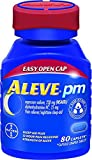Aleve PM with Easy Open Arthritis Cap, Caplets with Naproxen Sodium, 220mg (NSAID) Pain Reliever/Fever Reducer/Sleep Aid, 80 Count - Pack of 6