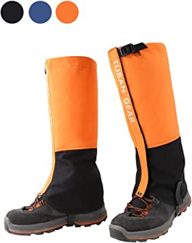Snowproof Waterproof Leg Gaiters Snow Ski Boot Cover Legging Nylon Large Long UK