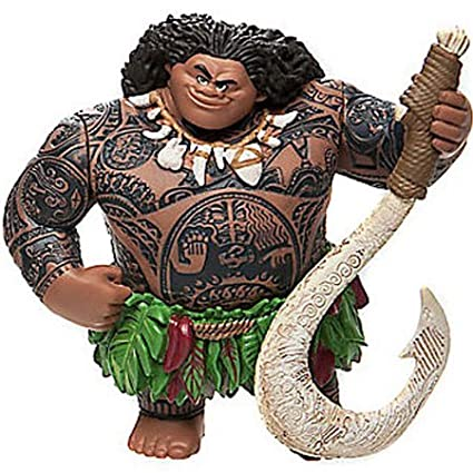 Disney Moana Maui 4quot Figure Loose PVC Cake Topper Custom Figurine Toy