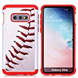 Galaxy S10e Phone Case - Baseball Sports Pattern Shock-Absorption Hard PC and Inner Silicone Hybrid Dual Layer Armor Defender Protective Case Cover for Samsung Galaxy S10e 5.8 inch 2019