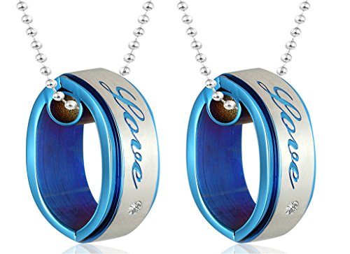 Star Lord Costume Ebay (Daesar His & His Necklace Set Couples Pendant Necklace Stainless Steel Matching Rings