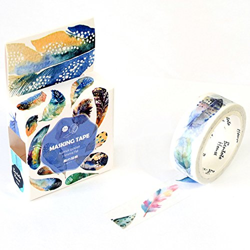 Blossom Flower Leaves Masking Washi Tape Decorative Adhesive Scrapbooking DIY School Office Supply (27) ()