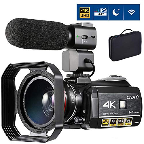 4K Camcorder Video Camera ORDRO AC3 4K Ultra HD Digital WiFi Video Camcorder 1080P 60FPS Recorder IR Night Vision 3.1