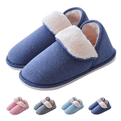 Slippers Adult Shoe Covers (Maizun House Slippers Winter Warm Indoor Shoes Boots Anti-Skid Plush Washable Loafer Slipper)